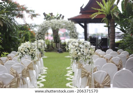 traditional wedding ceremony - stock photo