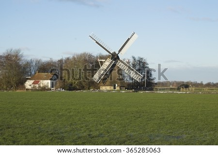 Traditional windmill in Holland