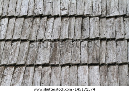 Traditional wood roof tiles