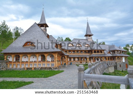 Traditional wooden house in Maramures county, Romania - stock photo