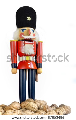 Traditional wooden Nutcracker from the Christkindlmarkt - stock photo