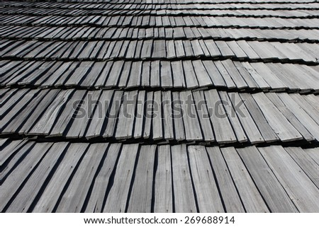 Traditional wooden roof