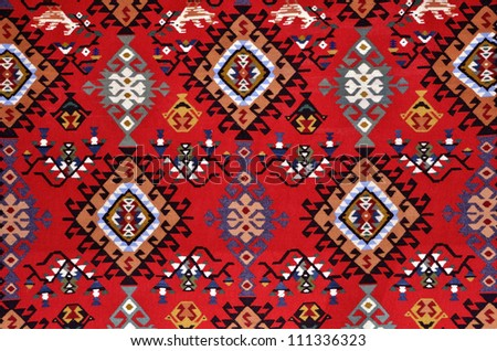 Traditional woolen rug from Bulgaria