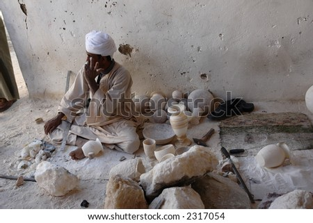 traditional work men - stock photo