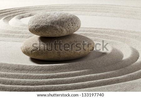 traditional zen landscape - stock photo