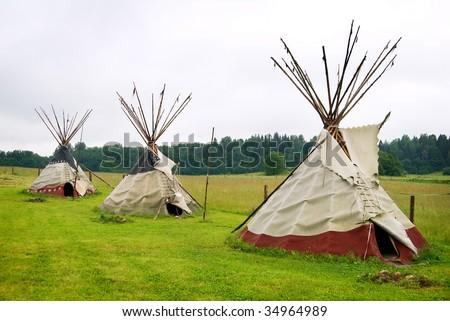 Traditionnal teepee. - stock photo