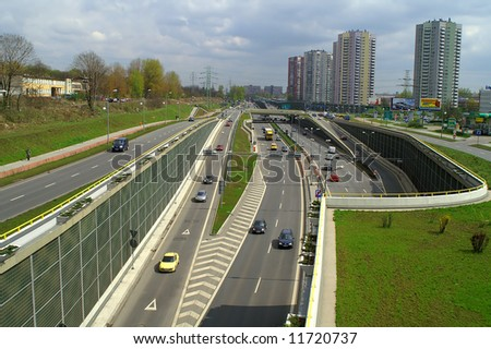 Traffic and highway - stock photo