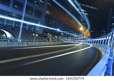 Traffic at night  - stock photo