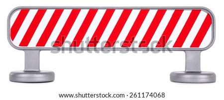 Traffic barrier barricade fence striped - stock photo