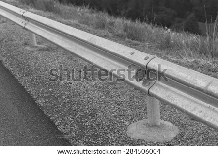 Traffic barrier black and white style
