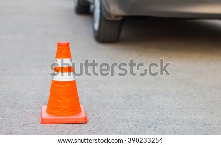 Traffic cone for traffic safety - stock photo