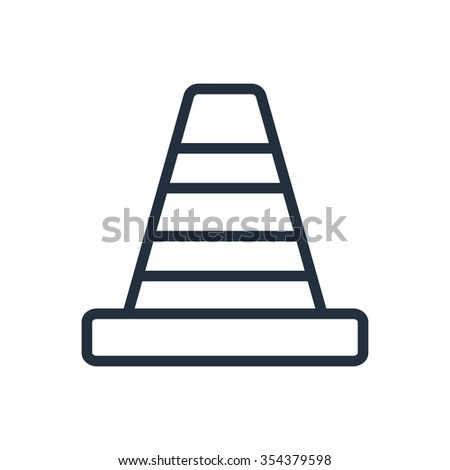 Traffic cone icon - stock photo