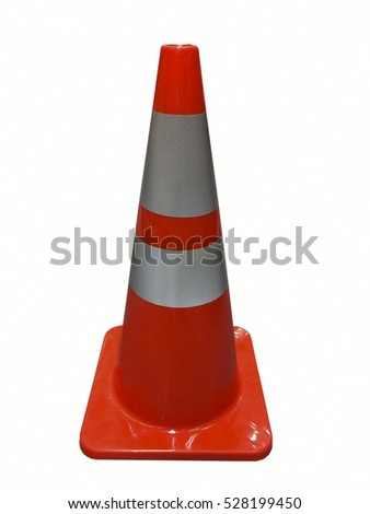 Traffic cone isolated on white,white background