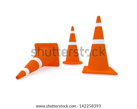 traffic cone with white background