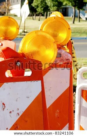 Traffic cones - stock photo