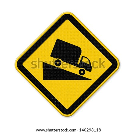 traffic down hill - stock photo