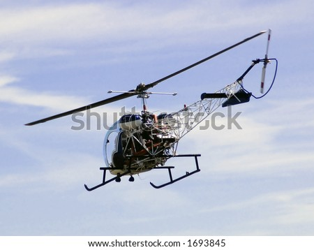 Traffic Helicopter - stock photo