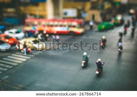 Traffic in Bangkok - stock photo