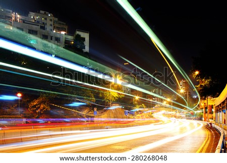 Traffic in city - stock photo