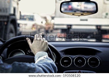 Traffic jam - stock photo