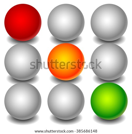 Traffic lamp, traffic light or control light graphic on white. - stock photo