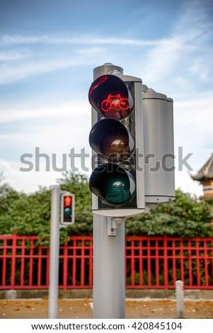 Traffic light closeup - stock photo