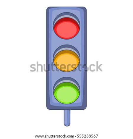 Traffic light icon. Cartoon illustration of traffic light  icon for web