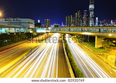 traffic light trails