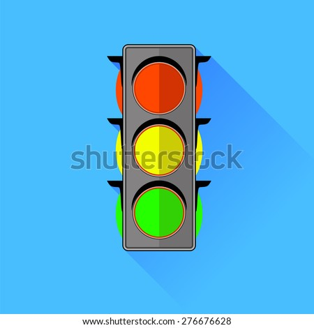Traffic Lights  Icon Isolated on Blue Background.