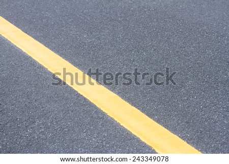 Traffic Line on the road background - stock photo
