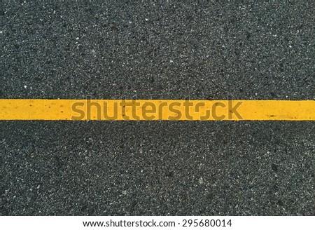 Traffic line on way - stock photo