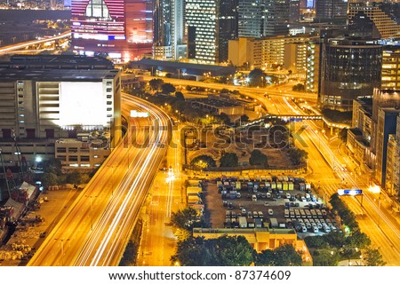 Traffic night in urban city