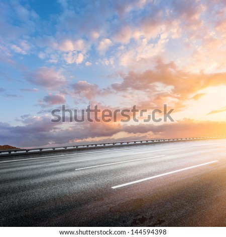 traffic of city - stock photo
