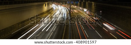 traffic on the night highway