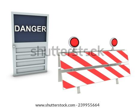traffic panel  - stock photo