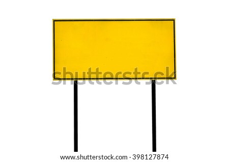 traffic road sign on white background