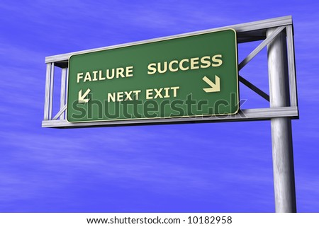 Traffic Sign - Failure-Success - stock photo