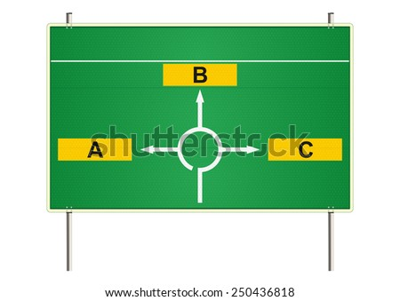 Traffic sign on a white background. Raster  - stock photo