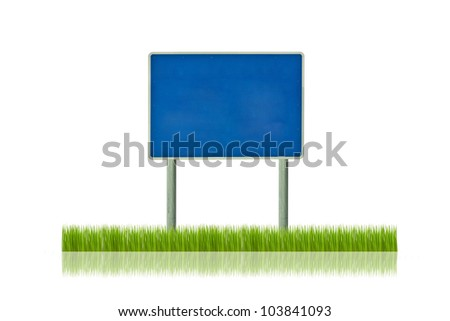 Traffic sign on grass