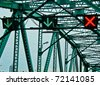 Traffic Sign on the Bridge - stock photo
