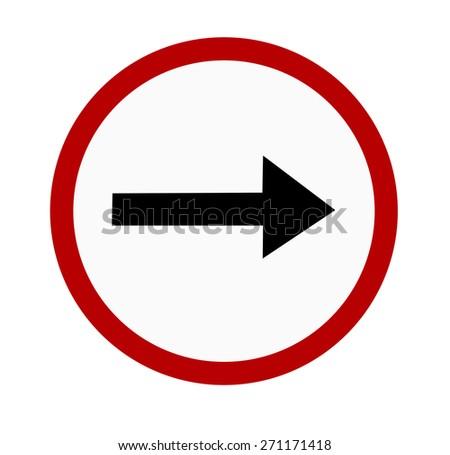 traffic sign on white background - stock photo