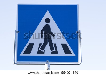 traffic sign pedestrian crossing Norway