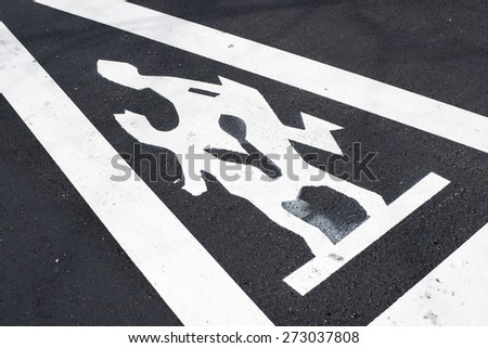 Traffic sign warning of the proximity of a school. - stock photo