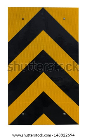 TRAFFIC sign yellow - stock photo