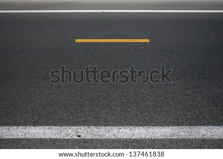 Traffic signs warning signs and traffic lines - stock photo