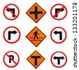 traffic signs with details ready to use - stock photo