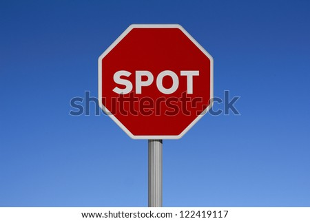 Traffic signs with sky background - SPOT