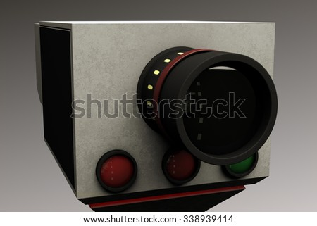 Traffic Vehicle Road Speed Control Recording Unit in Service 3D Image and Real Background Photo Composite