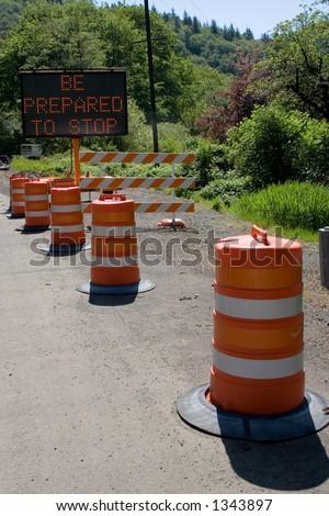 Traffic Wait - stock photo