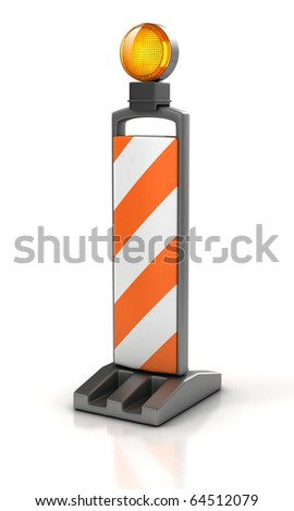 traffic works - Vertical Panel Channelizer - stock photo